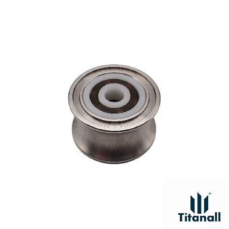 PAIR OF ROLLER PULLEYS D28X7 WITH BEARING